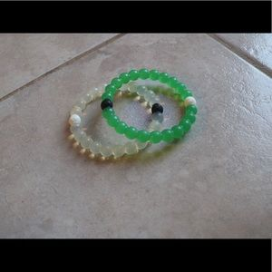 BUNDLE of 2 lokai bracelets green & clear original